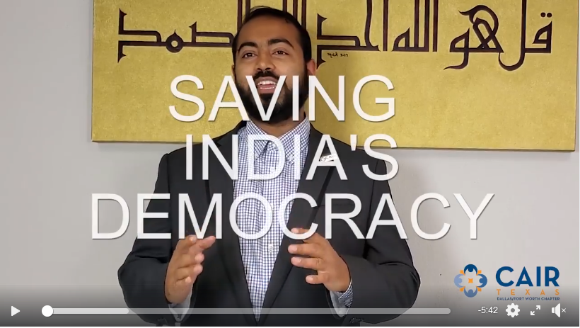 Video | Saving India's Democracy: How Hindutva Ideology Abroad is Promoting Islamophobia in the U.S.