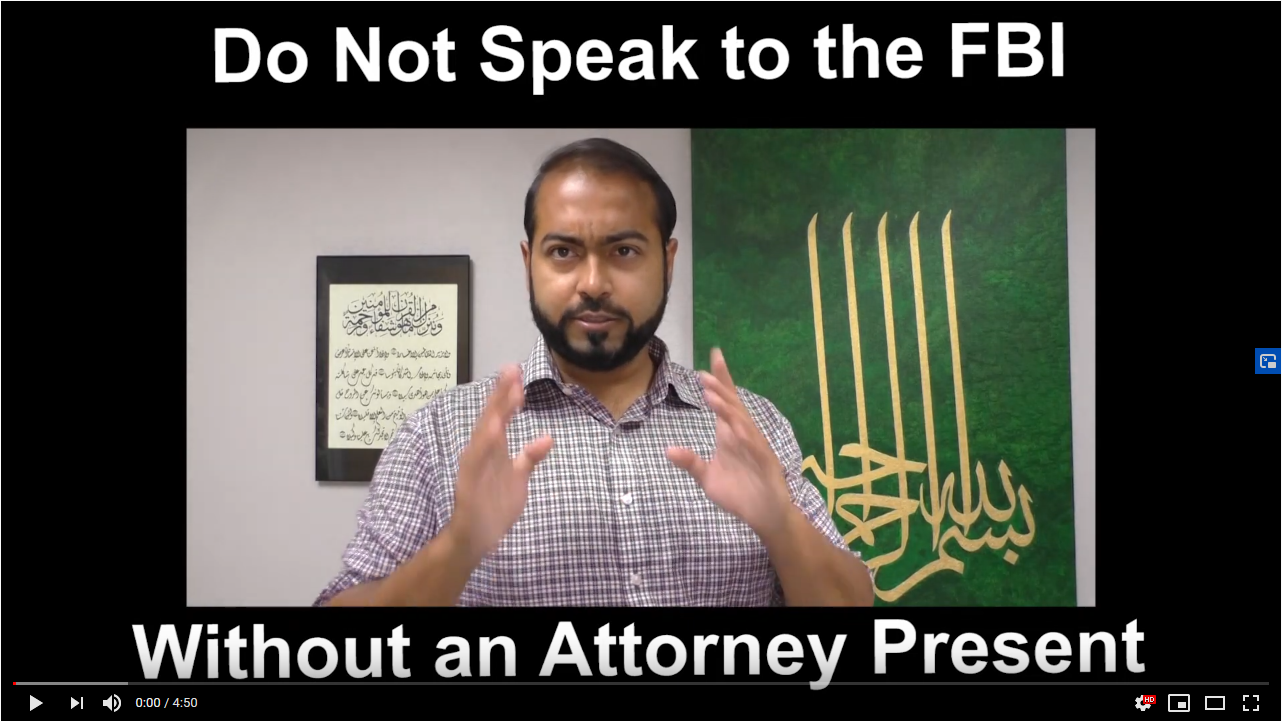 Do Not Speak to the FBI without an Attorney: CAIR-TX